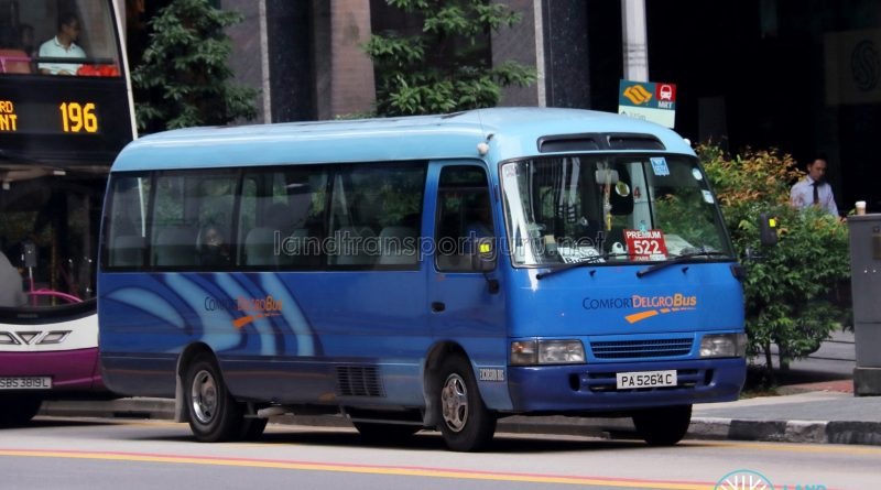 Premium Bus 522 - ComfortDelGro Bus Toyota Coaster (PA5264C)
