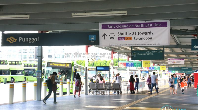 Shuttle 21 Signs at Punggol