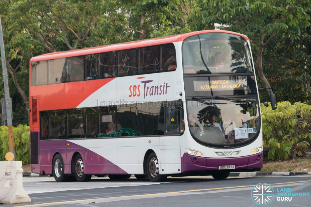 Shuttle 4: SBS Transit Volvo B9TL Wright (SG5389J)