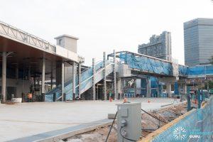 Jurong East 2nd Temporary Bus Interchange - Escalators and Overhead Bridge to MRT