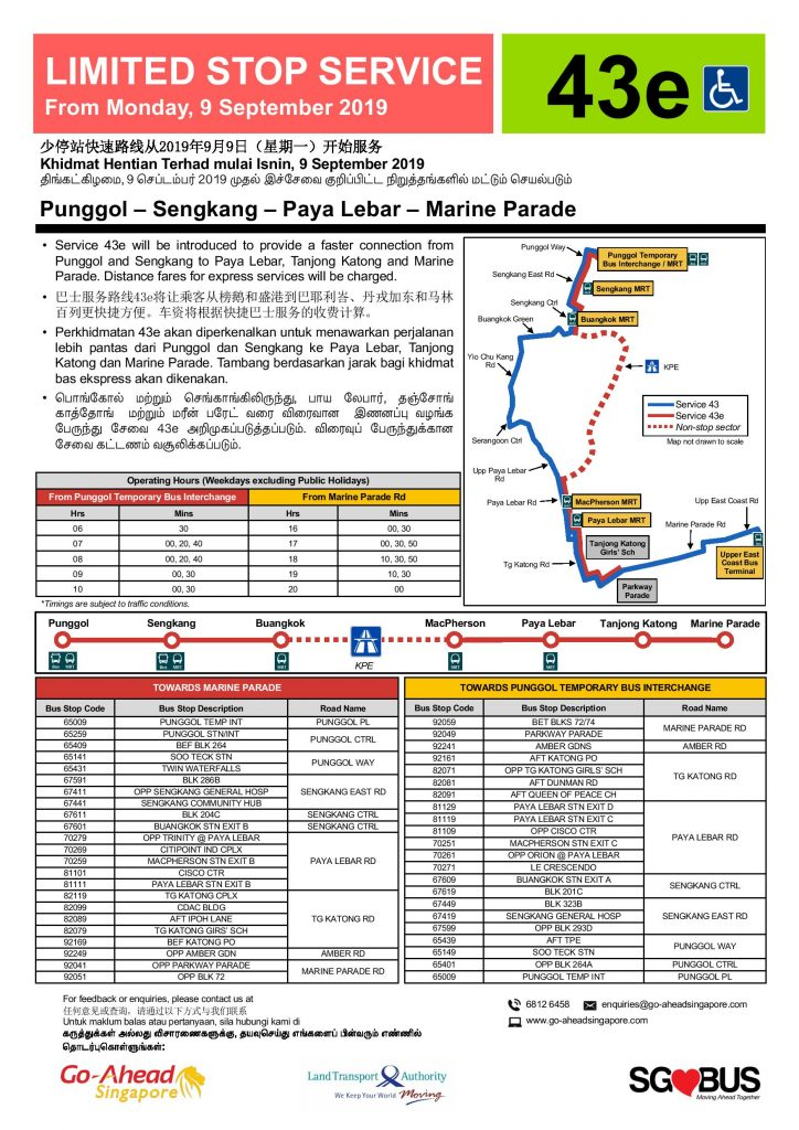 Limited Stop Express Service 43e Poster