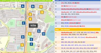 Bus Service Amendments for Opening of Yishun Integrated Transport Hub