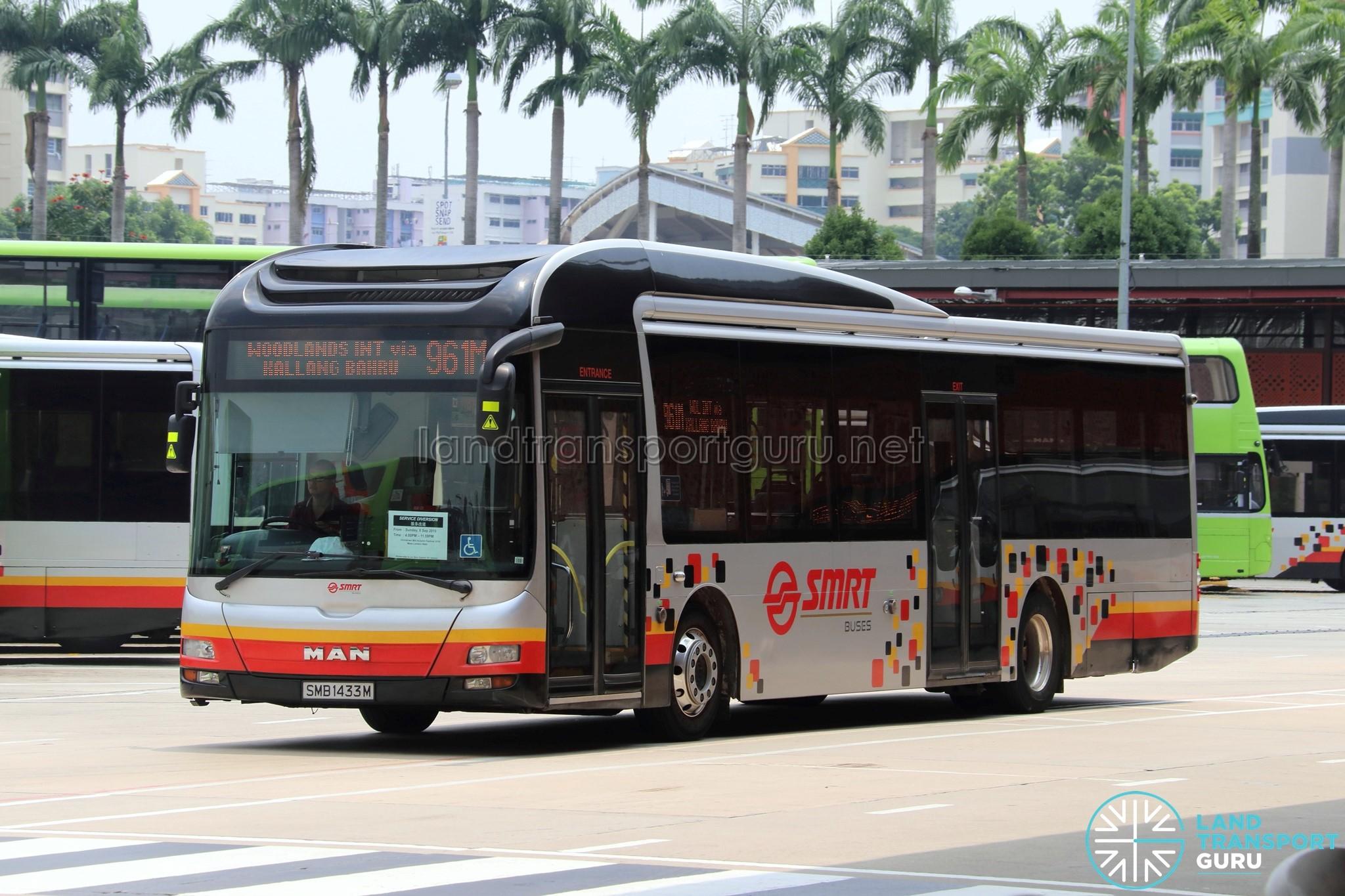 Service 961M - SMRT MAN NL323F Euro 5 (SMB1433M)