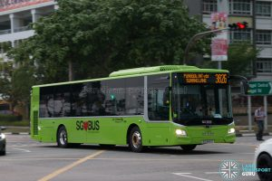 Bus 382G: Go-Ahead MAN Lion's City A22 (SG1840Z)