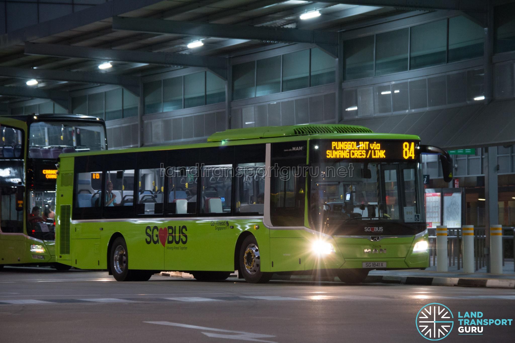 Bus 84: Go-Ahead MAN Lion's City A22 (SG1841X)