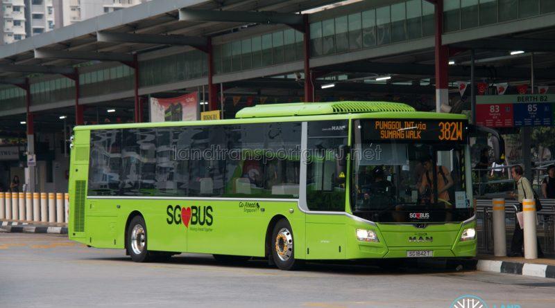 Bus 382W: Go-Ahead MAN Lion's City A22 (SG1842T)
