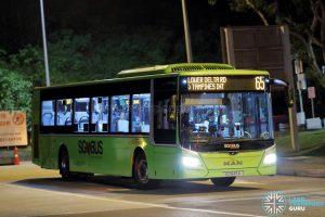 Service 65 - SBS Transit MAN A22 Euro 6 (SG1845K)