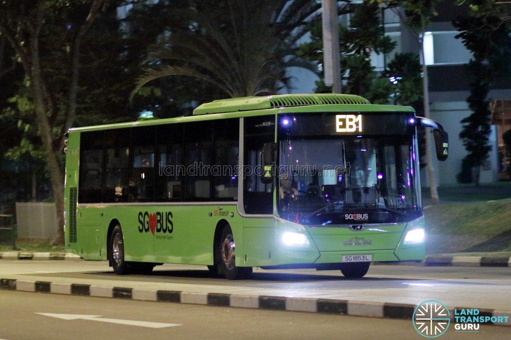 Employee Bus EB1 - SBS Transit MAN A22 Euro 6 (SG1853L)