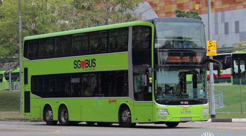Service 859 - SMRT MAN A95 Euro 5 (SG5820E)