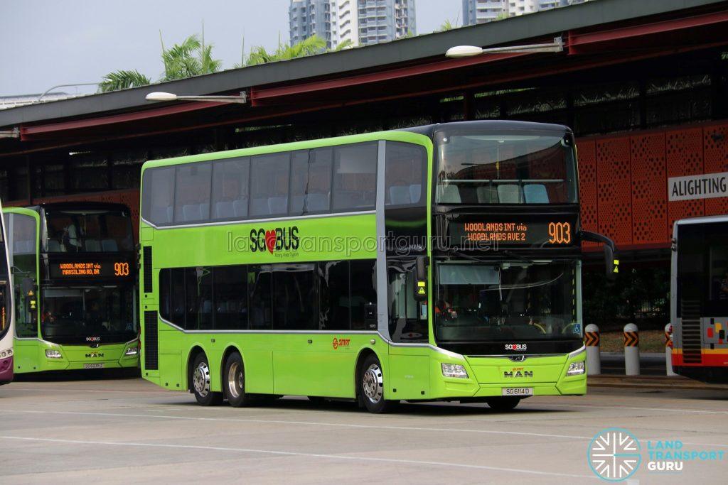 Service 903 - SMRT Buses MAN A95 Euro 6 (SG6114D)