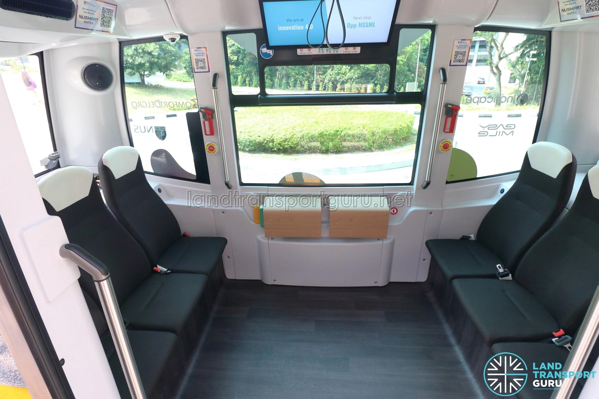 NUSmart Shuttle (Easymile EZ-10) - Full Interior