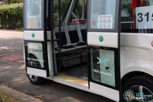 Navya Autonom - Entrance (wheelchair ramp stowed under seat)