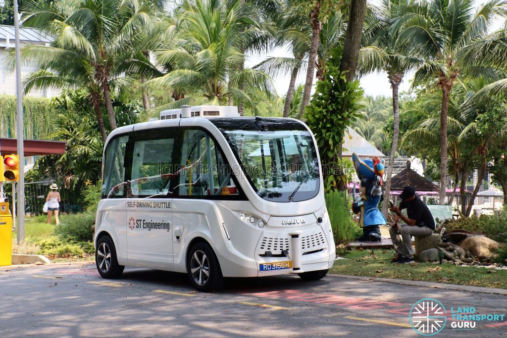 Navya Autonom - Sentosa Trial (at Palawan Beach)