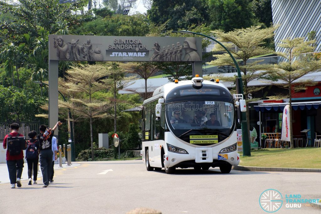 ST Autobus - Sentosa Trial (at Beach Station)