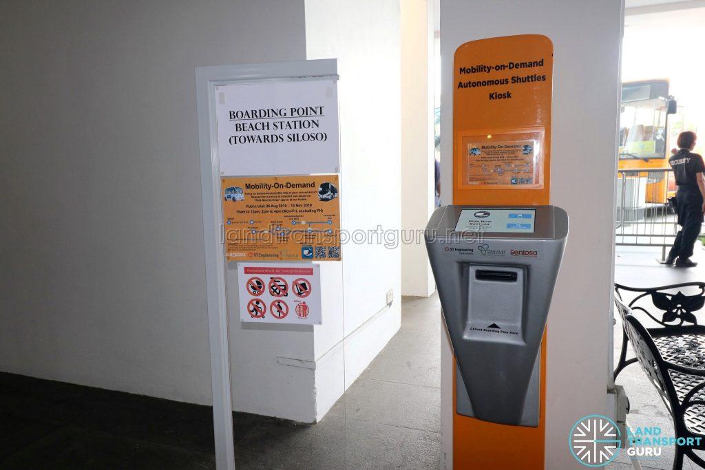 Sentosa Autonomous Bus - Booking Kiosk