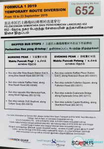 Ren Quan Transport Route Diversion Poster for Formula 1 2019