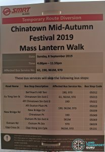 SMRT Buses Poster for Chinatown Mid-Autumn Festival 2019 (Mass Lantern Walk)