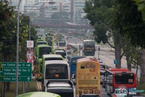 Congestion outside Yishun Integrated Transport Hub (1)