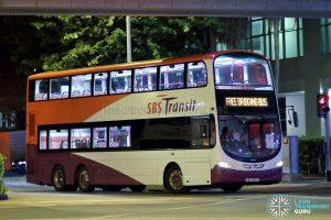 SKLRT Bridging Bus - SBS Transit Volvo B9TL Wright (SBS3921Z)
