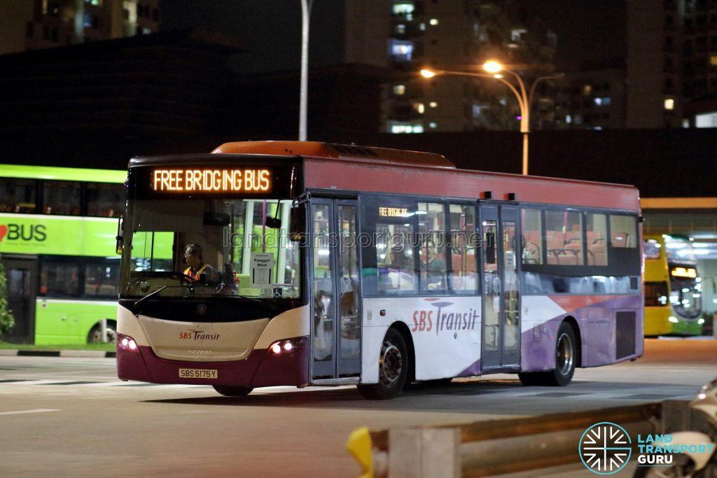 PGLRT Bridging Bus - SBS Transit Scania K230UB (SBS5175Y)