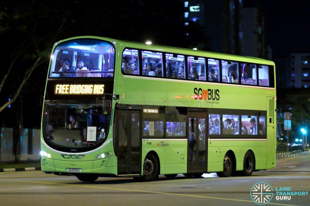 SKLRT Bridging Bus - SBS Transit Volvo B9TL Wright (SG5179Z)