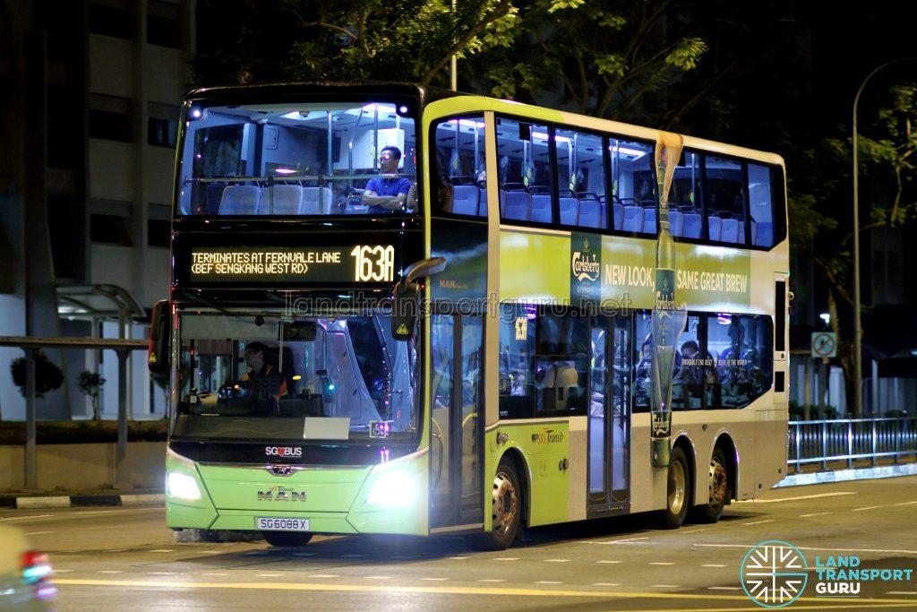 Service 163A - SBS Transit MAN A95 Euro VI (SG6088X)