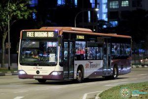 PGLRT Bridging Bus - SBS Transit Mercedes-Benz Citaro (SBS6637A)