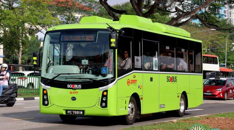 SMRT BYD C6 (PC7991M) - Service 825