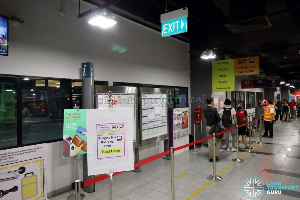 SKLRT Bridging Bus - West Loop queue