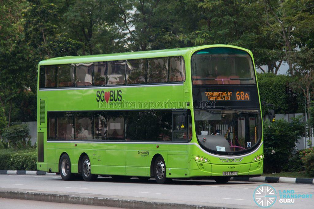 Bus 68A: Go-Ahead Volvo B9TL Wright (SBS3309S)