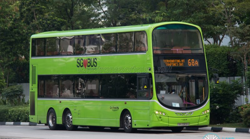 Bus 68A: Go-Ahead Volvo B9TL Wright (SBS3309S)