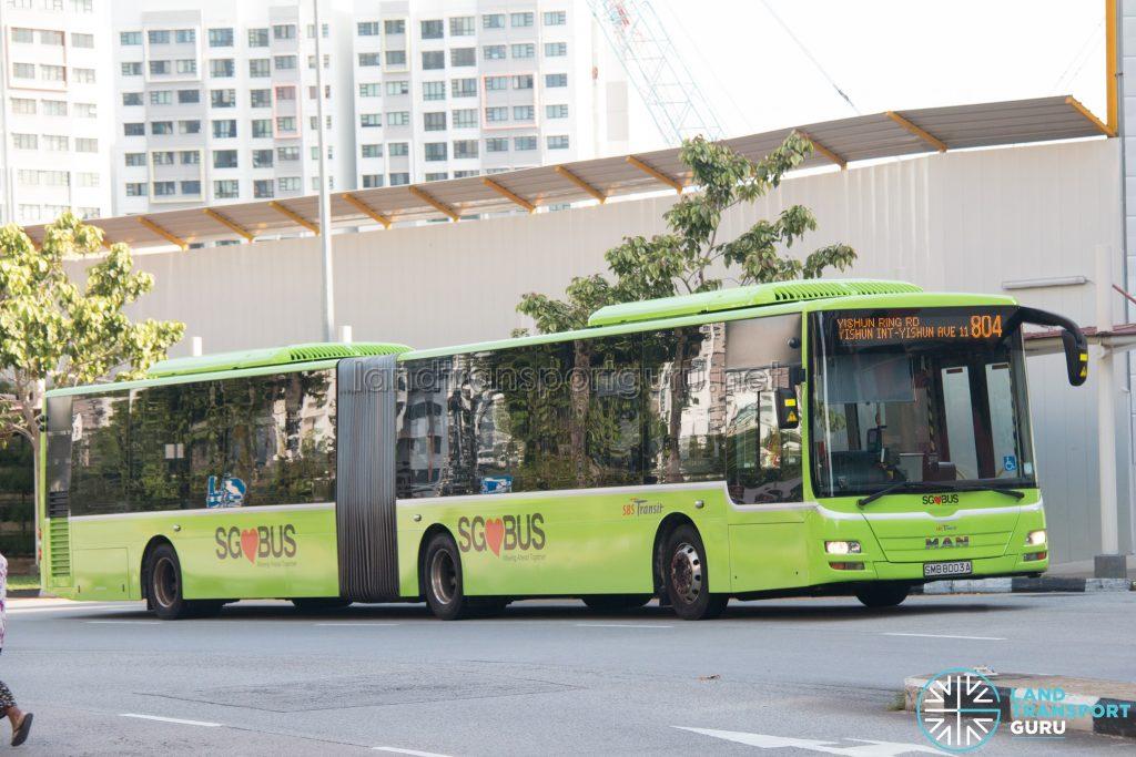 Bus 804: SBS Transit MAN A24 (SMB8003A)
