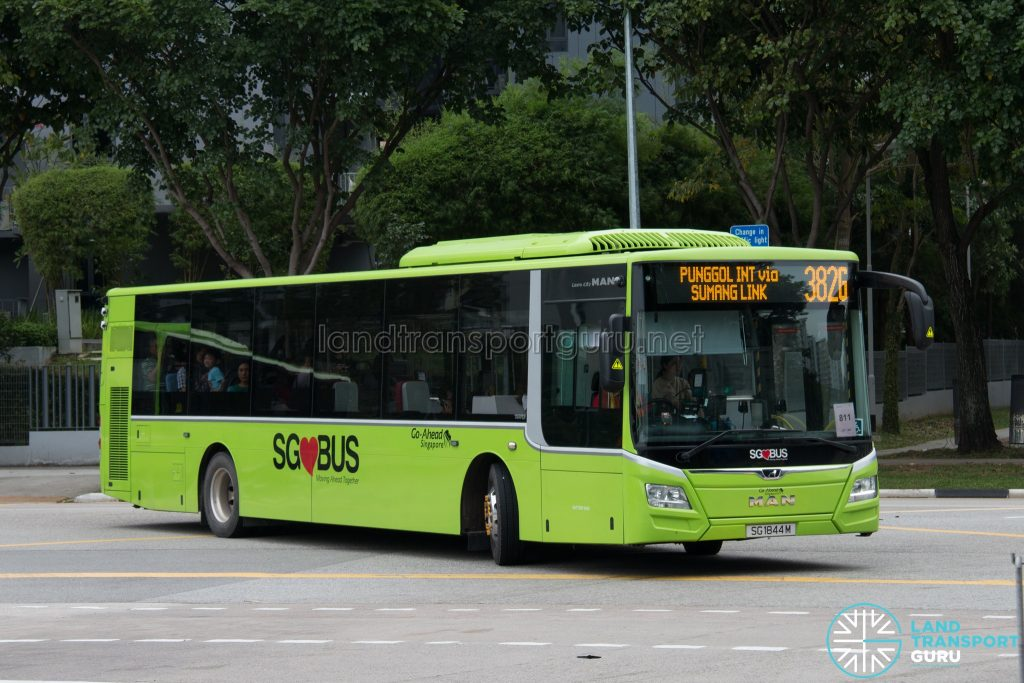 Bus 382G: Go-Ahead MAN Lion's City A22 (SG1844M)