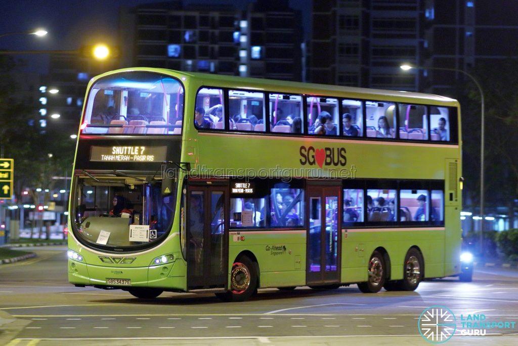 Shuttle 7 - Go-Ahead Singapore Volvo B9TL Wright (SBS3437E)