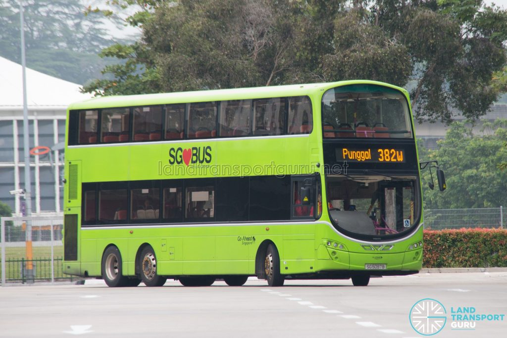 Bus 382W: Go-Ahead Volvo B9TL Wright (SG5097B)