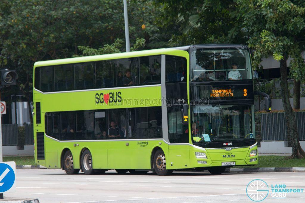 Bus 3: Go-Ahead MAN Lion's City DD A95 (SG5907P)