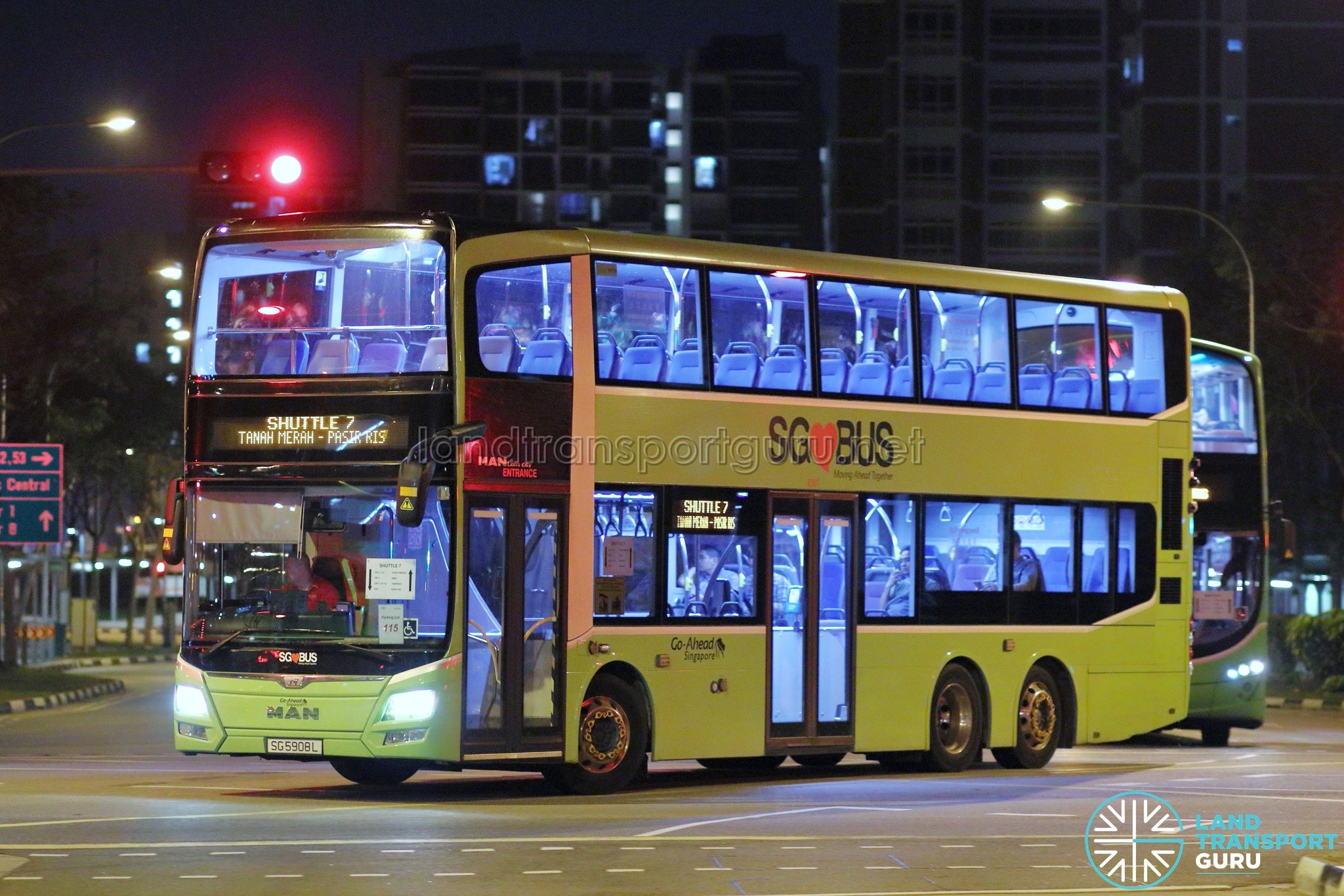 Shuttle 7: Aljunied—Tanah Merah Shuttle Bus Service