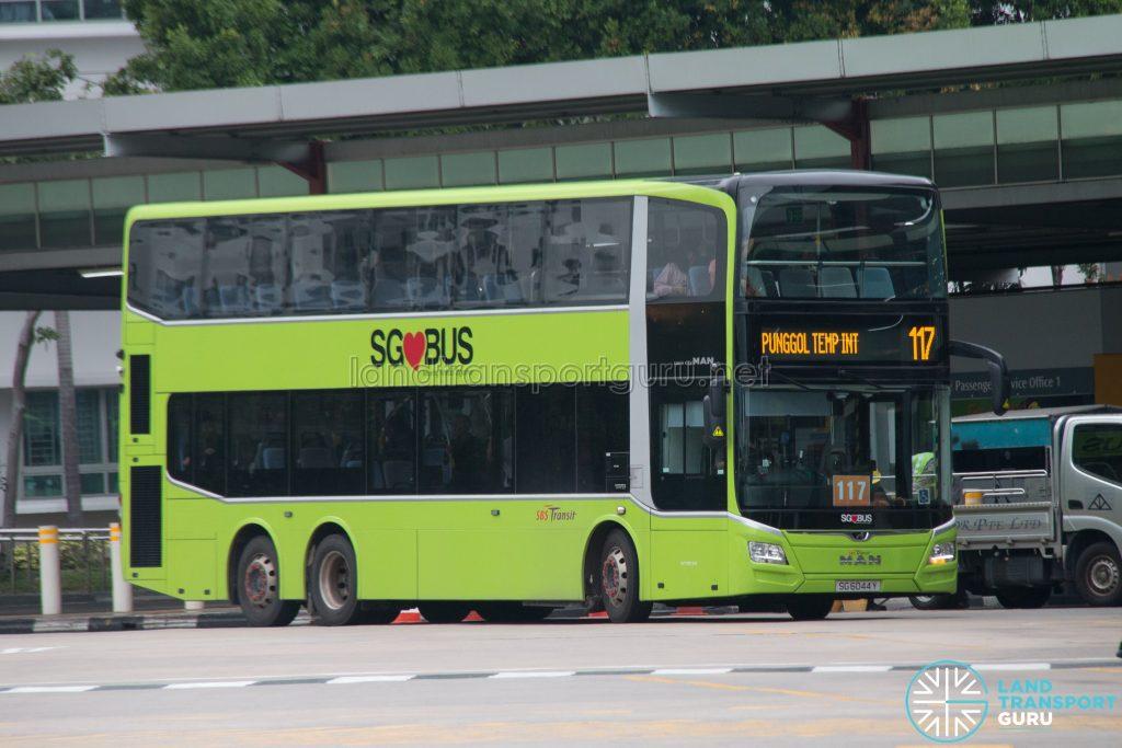 Bus 117: SBS Transit MAN Lion's City DD A95 (SG6044Y)