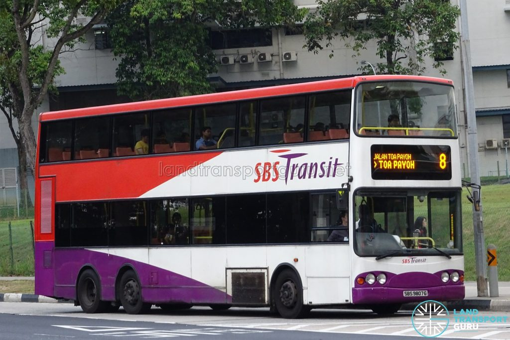 Bus 8 - SBS Transit Volvo B10TL (SBS9807G)