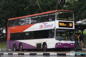 Bus 52 - SBS Transit Volvo B10TL (SBS9808D)