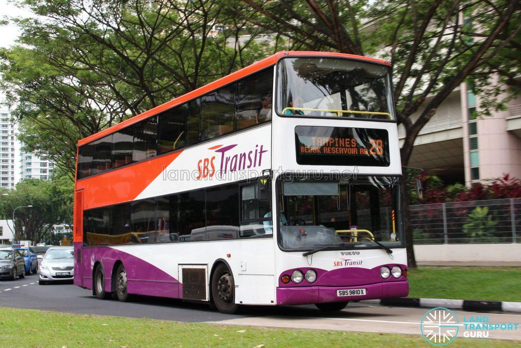 Bus 28 - SBS Transit Volvo B10TL (SBS9810X)