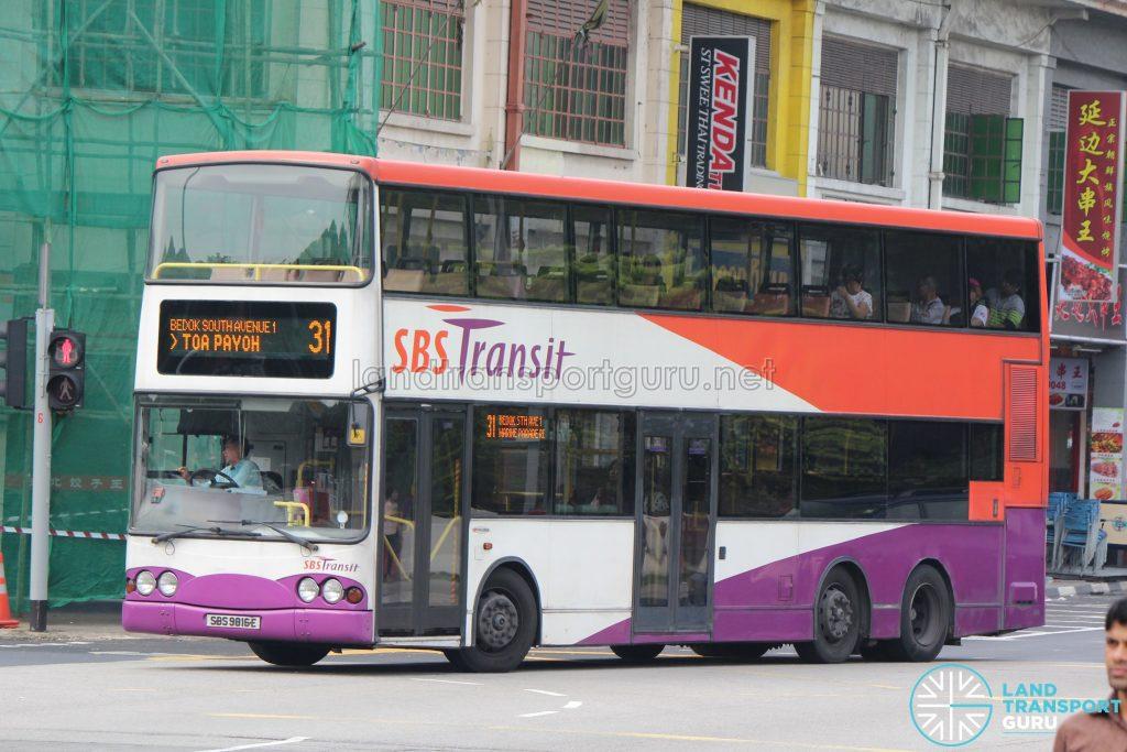 Bus 31 - SBS Transit Volvo B10TL (SBS9816E)