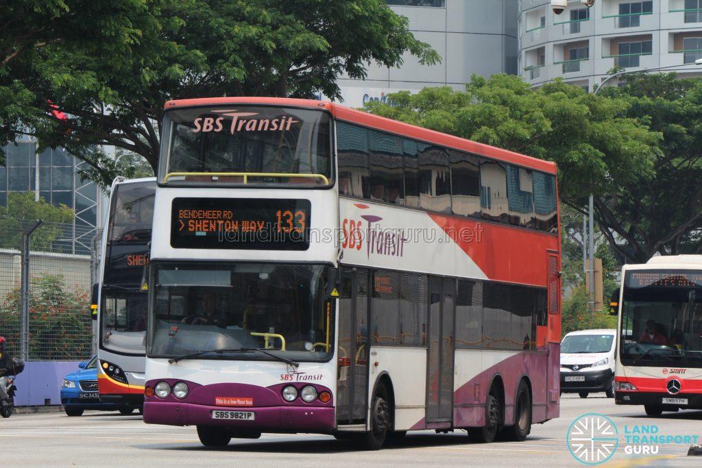 Bus 133 - SBS Transit Volvo B10TL (SBS9821P)