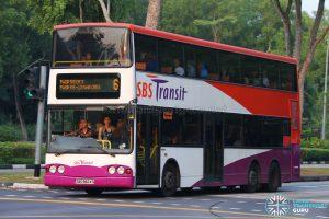 Bus 6 - SBS Transit Volvo B10TL (SBS9824G)