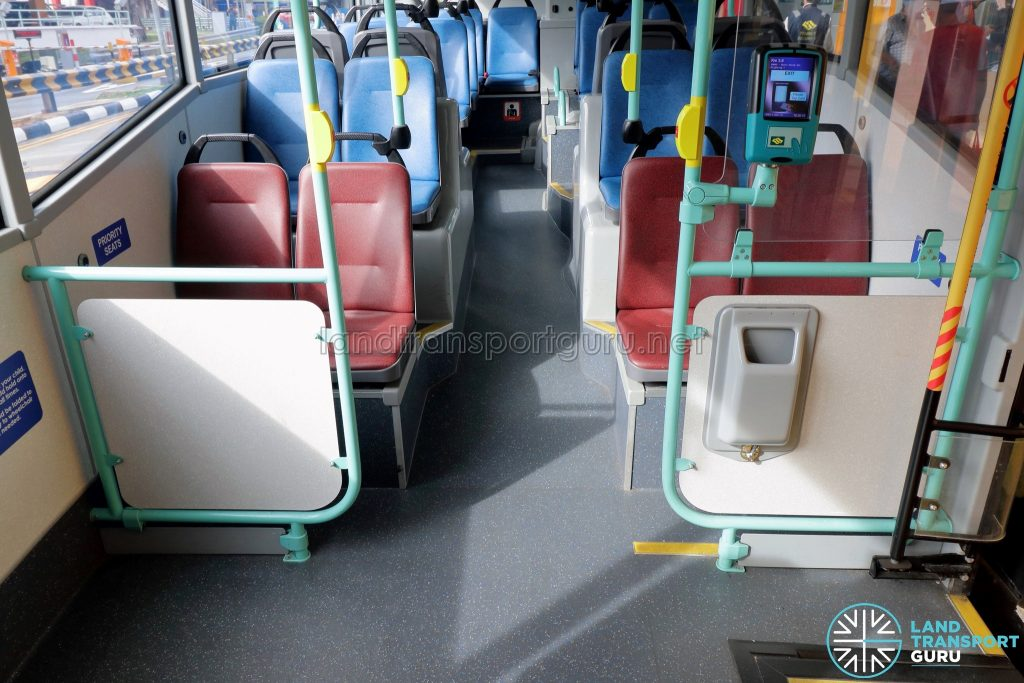 Volvo B5LH - New guard panels at priority seats after exit door