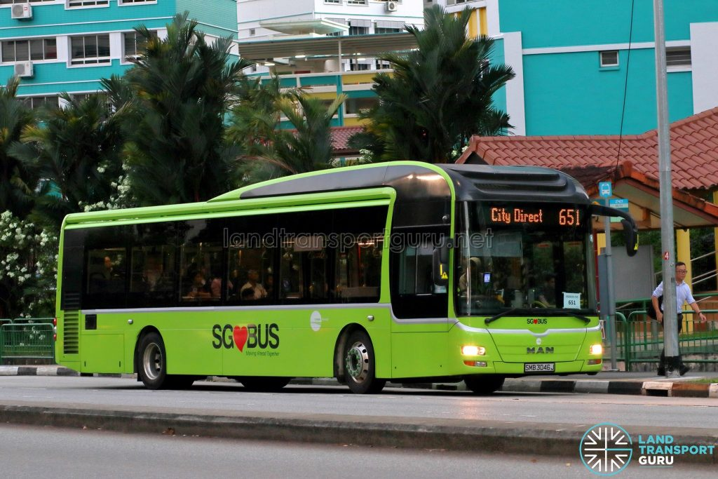 City Direct 651 - Tower Transit MAN A22 (SMB3046J)