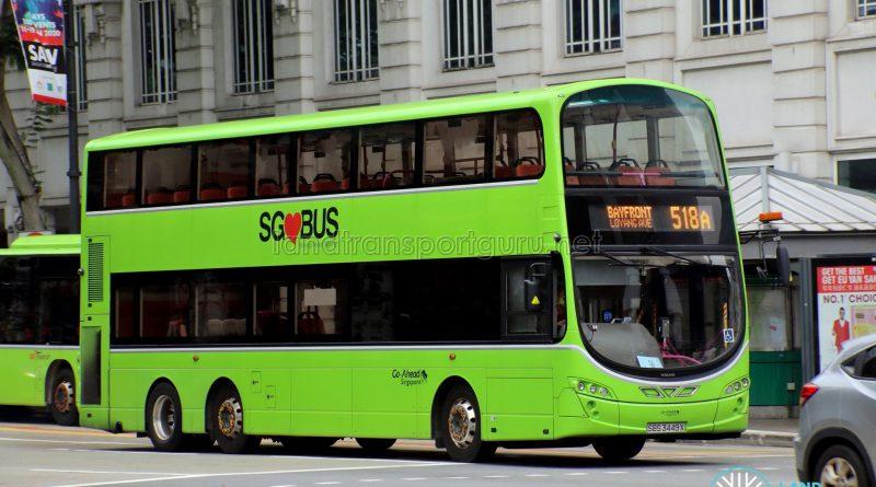 Bus 518A - Go-Ahead Singapore Volvo B9TL Wright (SBS3449X)