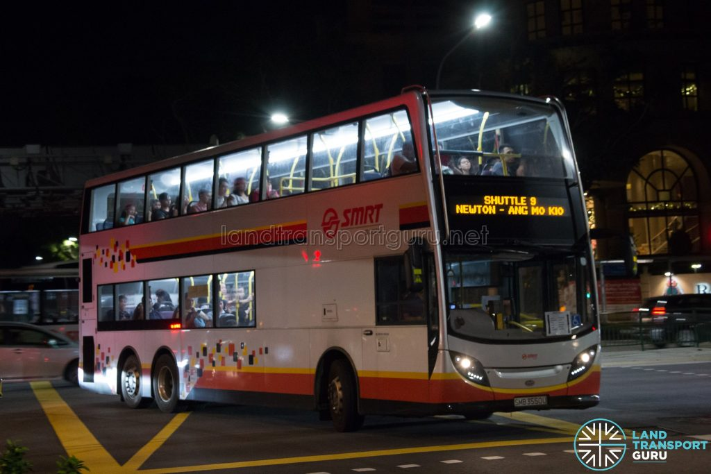 Shuttle 9: SMRT Buses Alexander Dennis Enviro500 (SMB3550U)