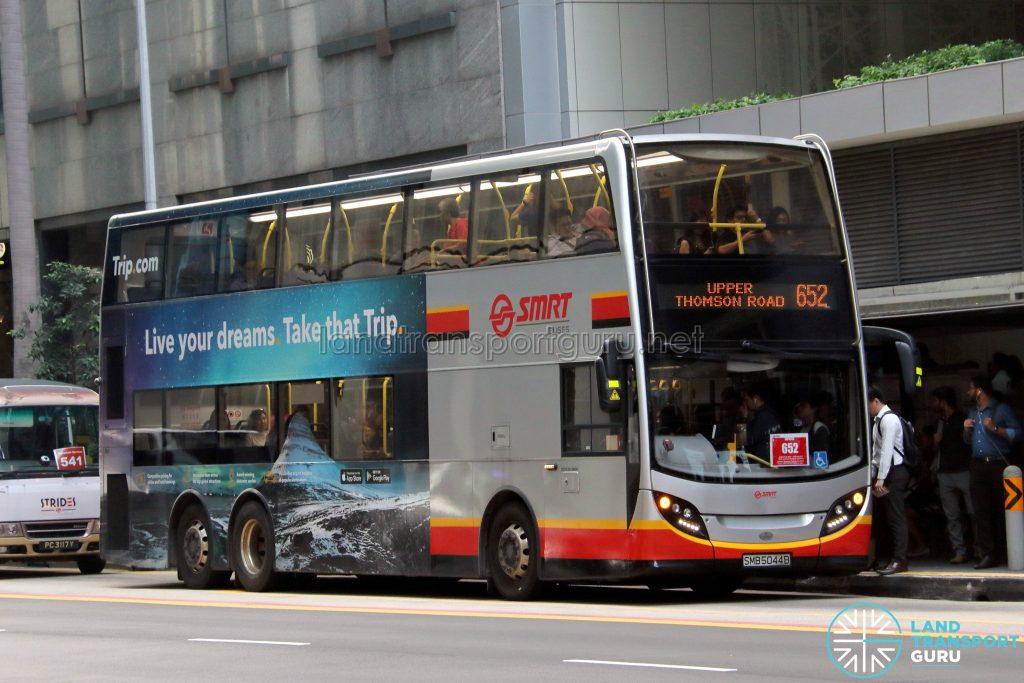 Bus 652: SMRT Alexander Dennis Enviro500 (SMB5044B)