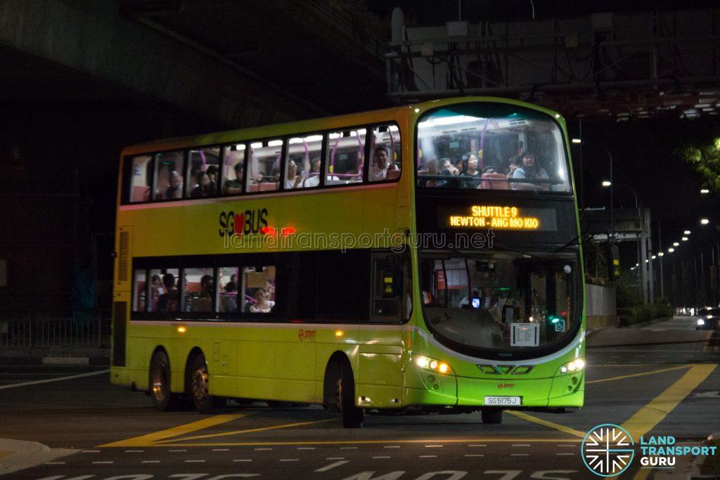 Shuttle 9: SMRT Buses Volvo B9TL Wright (SG5175J)